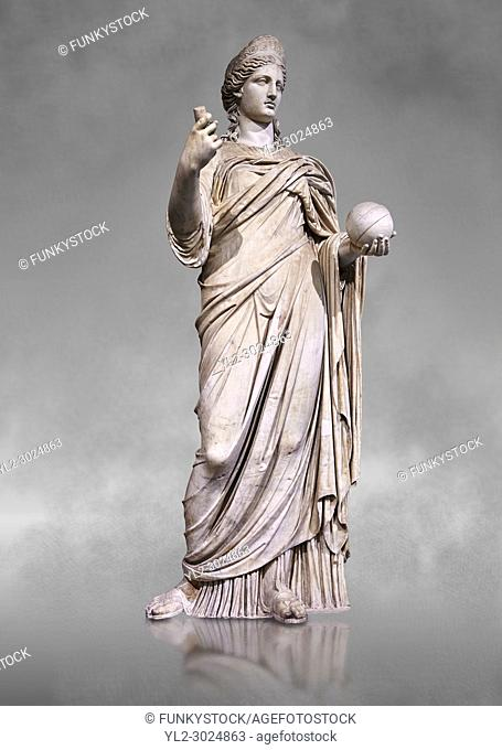 Statue of Juno known as La Providence, a 2nd century AD Roman sculpture from Rome, Italy. Juno is an ancient Roman goddess