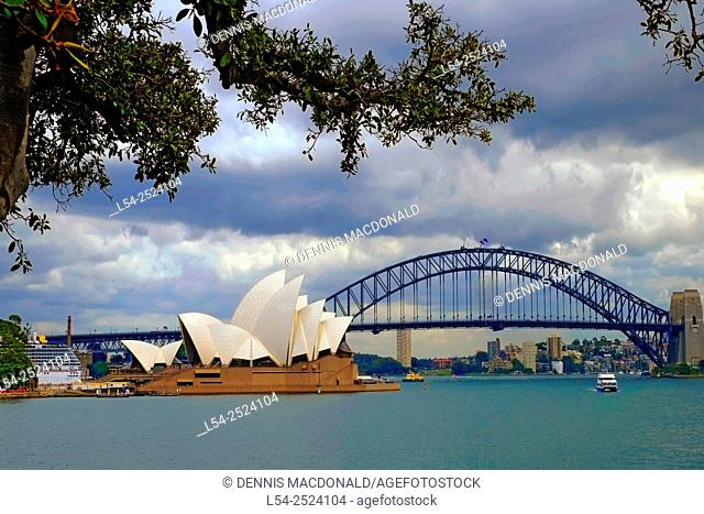 Sydney Opera House Harbour Bridge Australia New South Wales AU