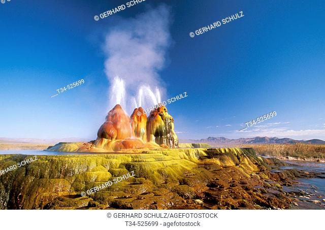 Geyser. Black Rock Desert. Nevada, USA