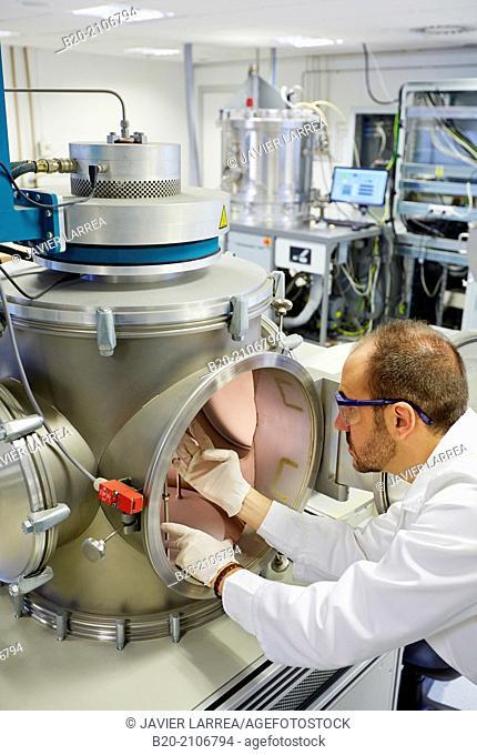 Vacuum chamber microwave plasma. Laboratory surfaces. Tecnalia Research and Innovation. Donostia. San Sebastian. Gipuzkoa. Basque Country. Spain