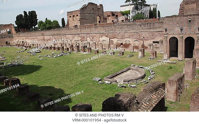Daylight, HA, PAN on the north-eastern part of the Stadium. The Stadium was a part of the Domitian palace, and was designed for chariot races