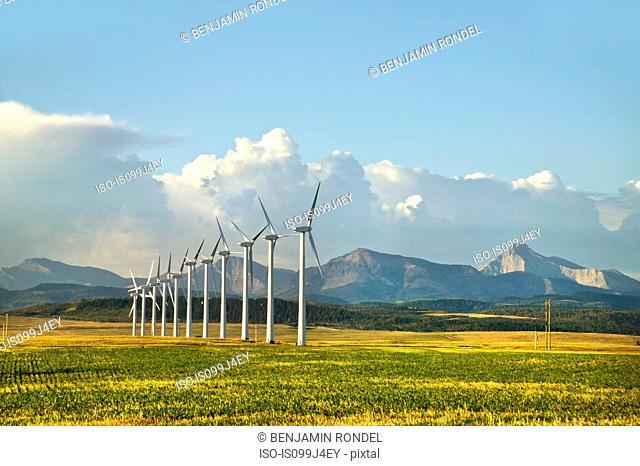 Wind turbines, Pincher Creek, Alberta, Canada