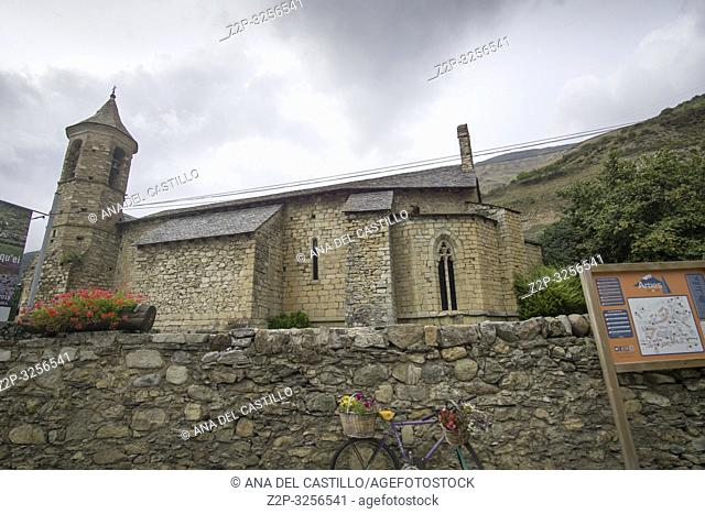 Stone architecture in Arties village Aran valley Lleida Catalunya Spain on September 9, 2018