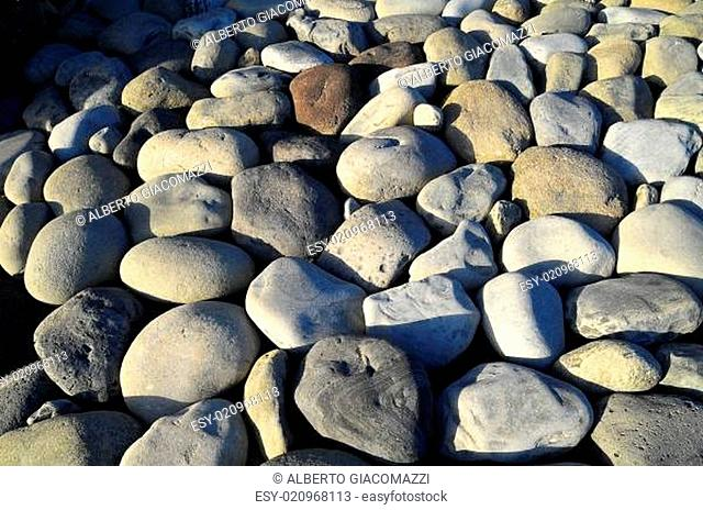 Round Rocks Smoothed by the Water