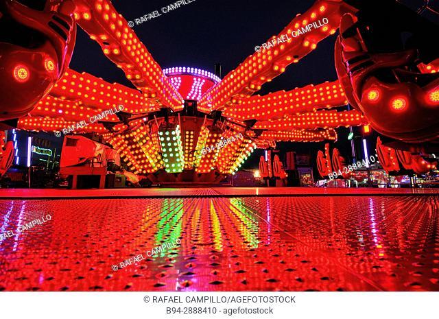 Fairground. April Fair, Forum district. Barcelona. Catalonia, Spain