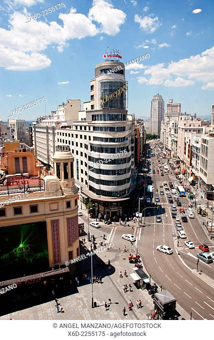 Gran Via skyline, Madrid