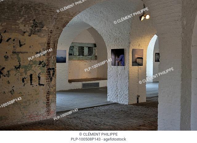 Casemate inside the pentagonal Fort Napoleon in the dunes at Ostend, Belgium