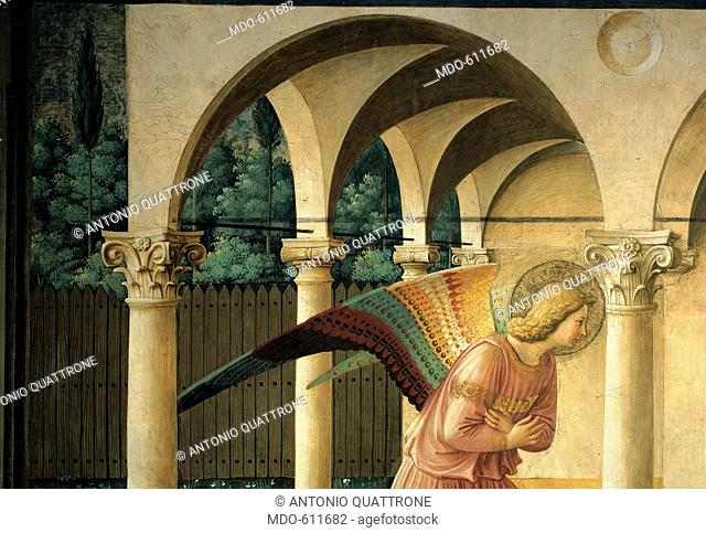 The Annunciation, by Guido di Pietro (Piero) known as Beato Angelico, 1438 - 1446, 15th Century, fresco. Italy, Lombardy, Milan
