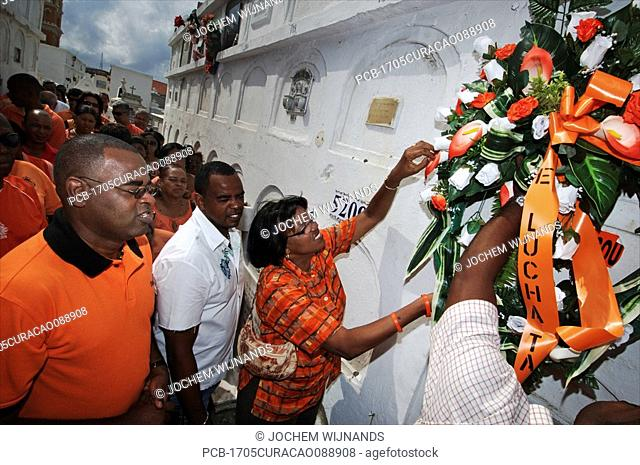 Curacao, Willemstad, Otrobanda, May 30 is the day that the FOL party remembers Papa Godett who was the leader of the 1969 strike that started the reforms His...