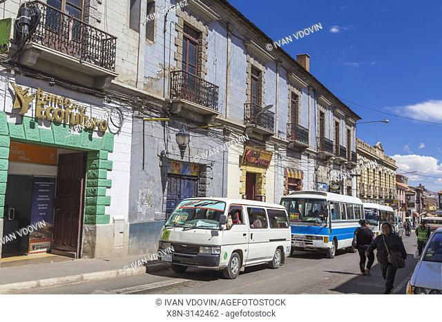 Street in old town, Potosi, Potosi department, Bolivia