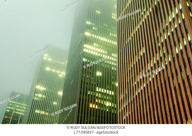 Office buildings on Sixth Avenue. New York City. USA