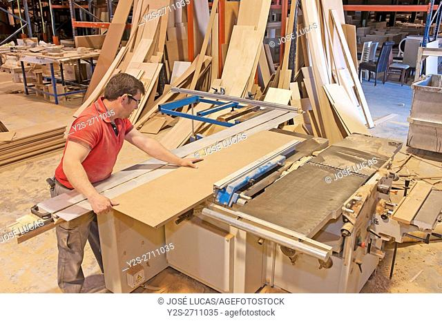 Furniture factory, Lucena, Cordoba province, Region of Andalusia, Spain, Europe