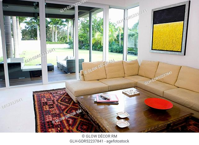 Interiors of a drawing room
