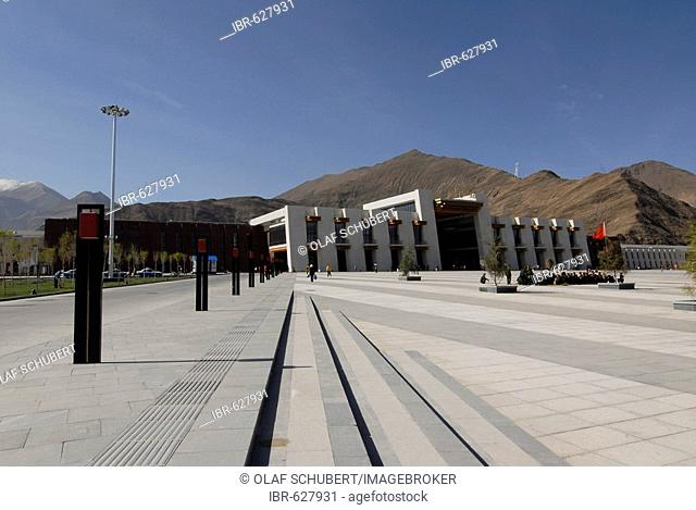 New Qinghai–Tibet railway station in the Tibetan capital of Lhasa, Tibet, China, Asia