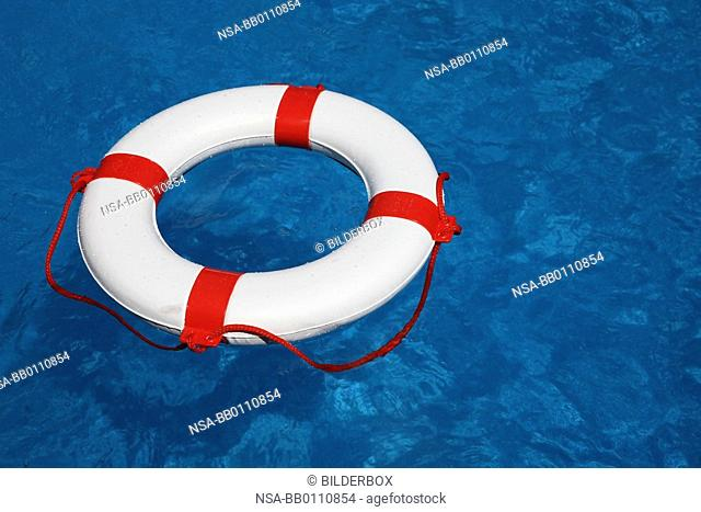 Pool with a life ring