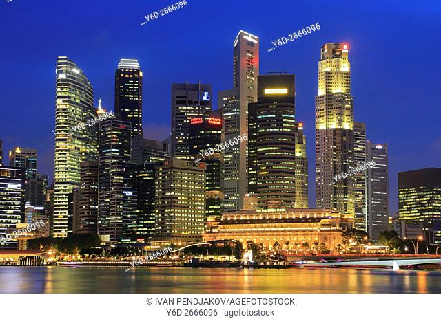 Central Business District at Dusk, Singapore