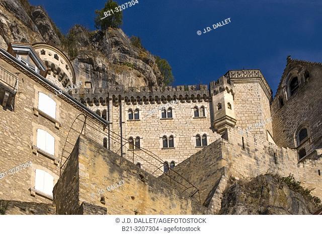 France, Occitanie, Lot, Rocamadour. Pilgrimage way to Santiago de Compostela