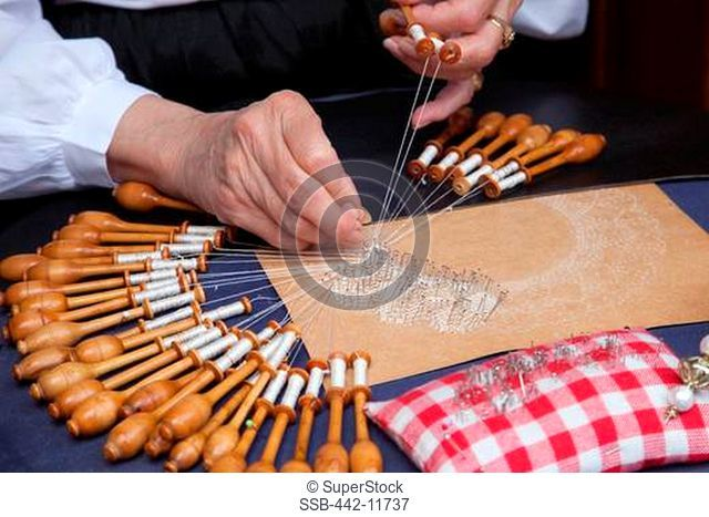 Hand lace making Stock Photos and Images | age fotostock