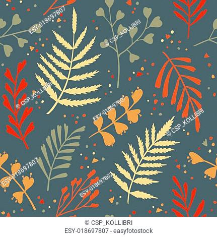 Decorative seamless pattern with le