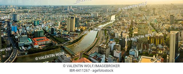 View of Ho Chi Minh City and Saigon River from the Bitexco Financial Tower, Ho Chi Minh City, Vietnam