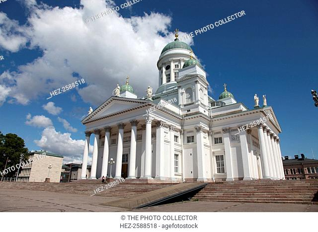 Lutheran Cathedral, Helsinki, Finland, 2011. Helsinki Cathedral (Tuomiokirkko), also known as the Cathedral of St Nicholas