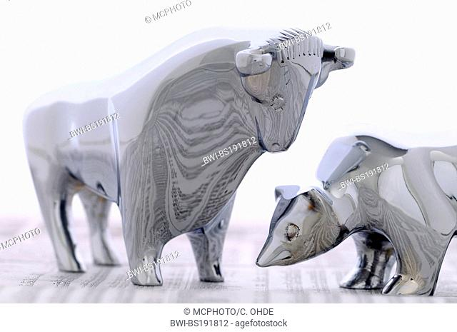bull and bear, symbol for the stock-market