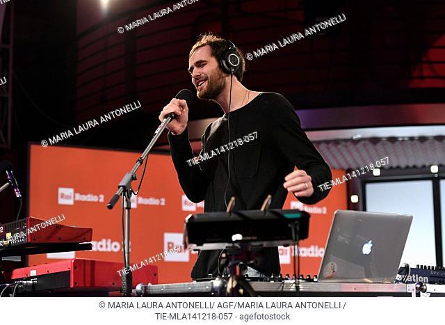Mihail Sandu in concert at Radio2, Rome, ITALY-13-12-2018