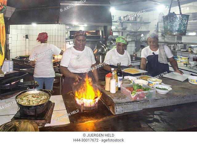 Dominican Republic, Cabarete, Cabarete beach, North Coast, Caribbean, La Casita de Papi, open kitchen, Lobster style Papi, Dom Rep