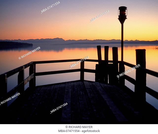 Ammersee in the evening mood