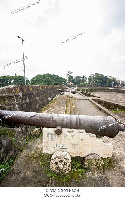 View of Cannons in Intramuros, Manila, Philippines