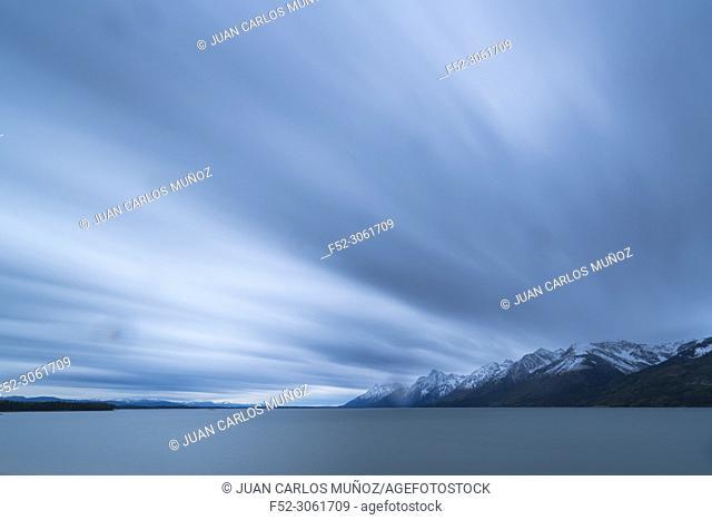 Jackson Lake, Grand Teton National Park, Wyoming, Usa, America