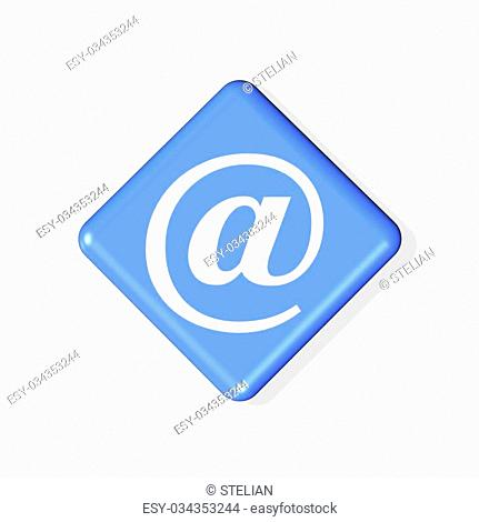 email symbol icon - computer generated illustration