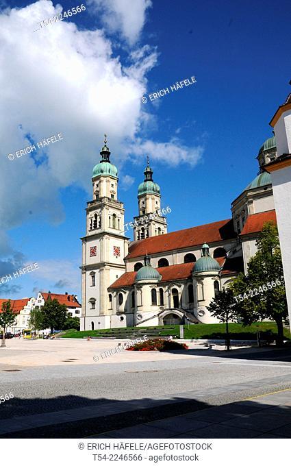 The St. Lawrence Church in Kempten, Bavaria, Allgaeu