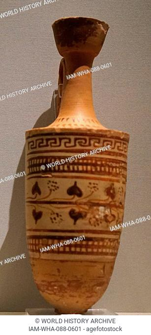 Pottery wine-pourer from ancient Syria. Dated 6th Century BC