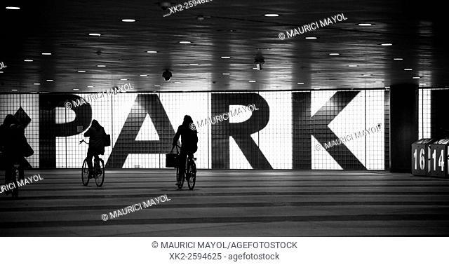 Bike parking, Gent-Sint-Pieters, Belgium