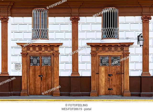Peru, La Libertad, Trujillo, Plaza de Armas, Centro Viejo
