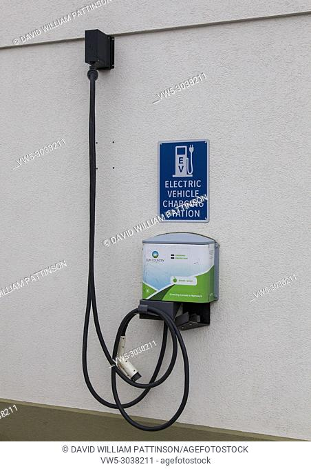 Electric vehicle charging station Kelowna BC Canada