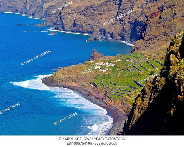 Coastline of the northern La Palma, Canary Islands, Spain
