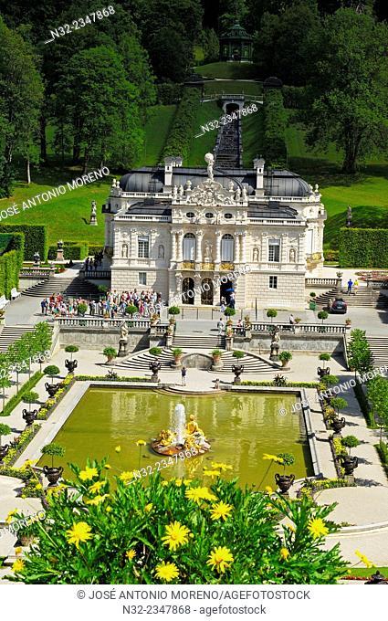 Linderhof, Linderhof Castle, Linderhof Palace, Schloss Linderhof, Upper Bavaria, Bavaria, Germany, Europe