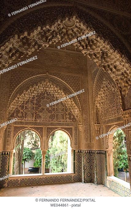 Palacios Nazaries, Alhambra, Granada, Andalucía, Spain