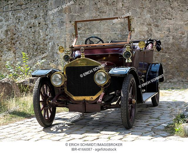 Oldtimer Straker Squire, built in 1910, 4-cylinder inline engine, 2850 cc, 25 HP