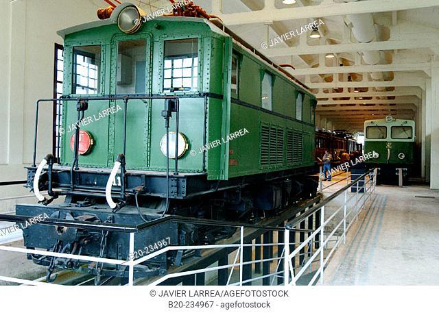 Locomotive at museum of railway history. Azpeitia. Guipúzcoa, Euskadi. Spain