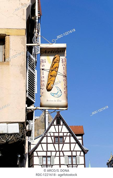 bakery sign, Colmar, Alsace, France