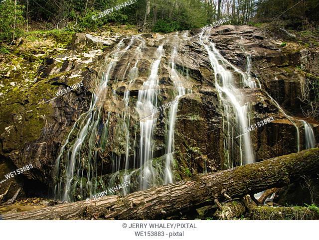 Waterfall on the Glen Burney Trail in Blowing Rock, North Carolina