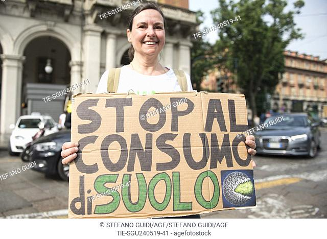 Students take part in a demonstration against climate change in Turin, ITALY-24-05-2019