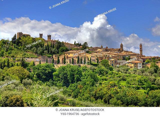 panoramic view of Montalcino, Siena, Tuscany, Italy