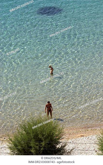 Pythagorion, beach, Samos, N  E  Aegean, Greece