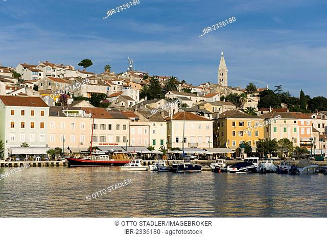 Boats in the harbour of Mali Losinj, Losinj Island, Adriatic Sea, Kvarner Gulf, Croatia, Europe