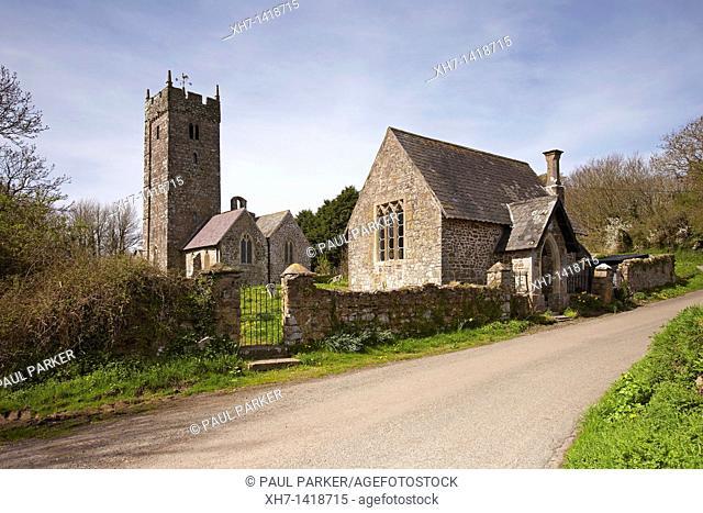Church of St  Decumanus, Rhoscrowther, Hundleton, Pembrokeshire, Wales, UK