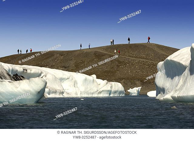 Icebergs, Jokulsarlon, Breidamerkurjokull Glacier, Iceland